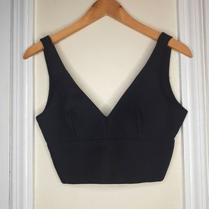 Zara XS Black Crop Top / Bralette Top